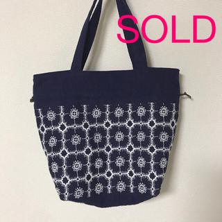 mina perhonen - ミナペルホネン ハンドメイド 巾着 バッグ anemone