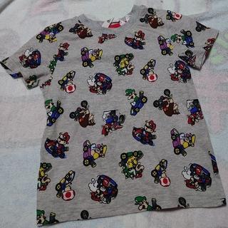 エイチアンドエム(H&M)の新品 マリオカート 総柄Tシャツ 120サイズ スーパーマリオ(Tシャツ/カットソー)
