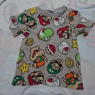 エイチアンドエム(H&M)の美品 スーパーマリオ 総柄Tシャツ 110サイズ テレサ クッパ(Tシャツ/カットソー)