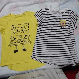 エイチアンドエム(H&M)の新品 スポンジボブ Tシャツ 120サイズ 2枚セット(Tシャツ/カットソー)