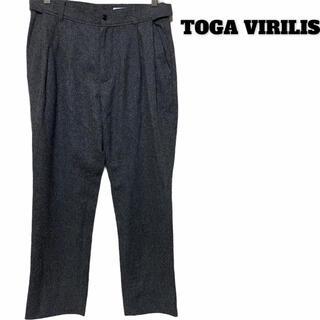 トーガ(TOGA)のTOGA VIRILIS トーガビリリース/スラックス/ウール/タック/グレー(スラックス)