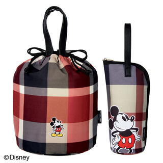 ディズニー(Disney)のディズニーミッキー付録保冷バックセット(弁当用品)