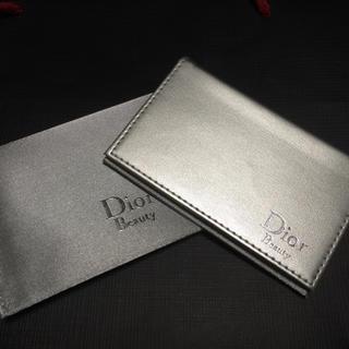 ディオール(Dior)の【新品】DIOR 脂取り紙付 ミラー☆パスケース 名刺入れ(名刺入れ/定期入れ)