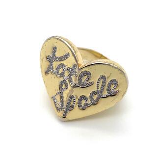 ケイトスペードニューヨーク(kate spade new york)のケイトスペード 指輪 ハート ストーン ゴールド(リング(指輪))
