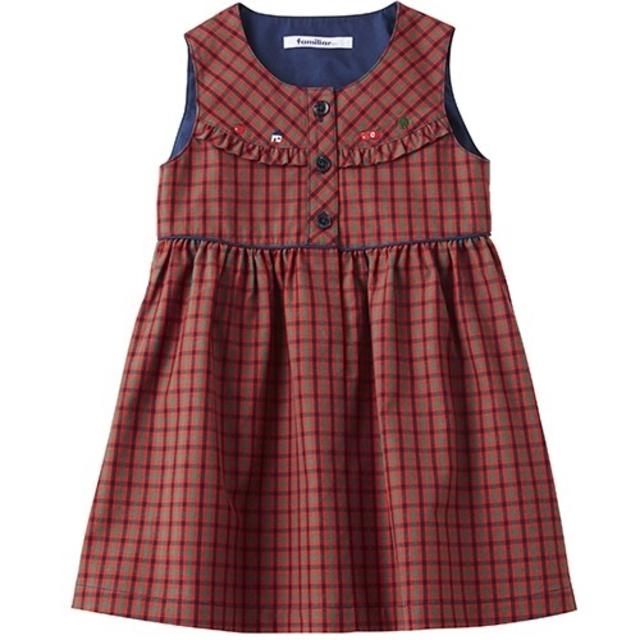 familiar(ファミリア)のファミリア ジャンパースカート ワンピース 100cm キッズ/ベビー/マタニティのキッズ服女の子用(90cm~)(ワンピース)の商品写真
