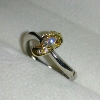Pt900 & K18 コンビ ダイヤモンド0.11ct リング 9.5号