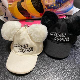 Disney - ディズニー ファンキャップ 帽子 キーホルダー★キーチェーン キャップ ミッキー