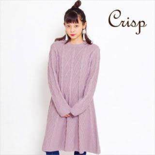 クリスプ(Crisp)のcrisp ニットワンピース ピンク(ひざ丈ワンピース)