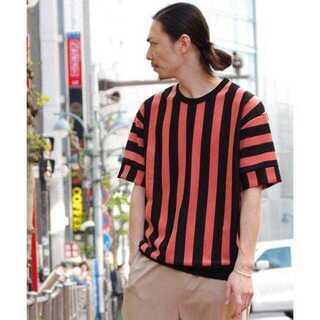ハレ(HARE)のLui's(ルイス) ストライプ ポンチ Tシャツ(Tシャツ/カットソー(半袖/袖なし))