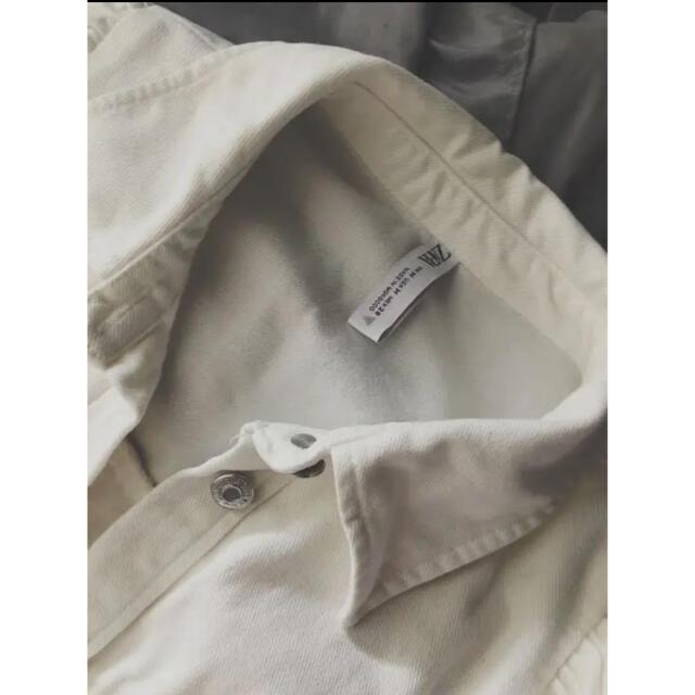 ZARA(ザラ)の美品❤︎ZARA ザラ 膝丈 デニム素材 ワンピース 白❤︎最終価格 レディースのワンピース(ひざ丈ワンピース)の商品写真