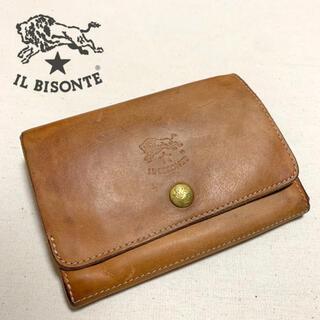IL BISONTE - IL BISONTE 二つ折り財布 レザーウォレット  ヌメ イタリア製