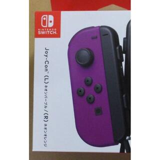 Nintendo Switch - 未使用 Joy-Con (L)ネオンパープル  Joy-conストラップ黒 左