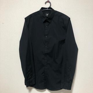 エイチアンドエム(H&M)のシャツ 黒 H&M   Mサイズ EASY IRON(シャツ)