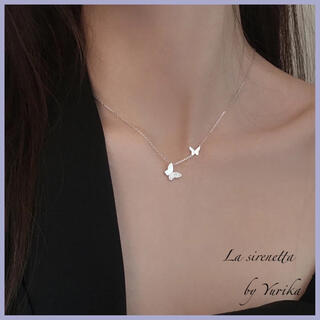 AHKAH - papillon zirconia necklace *S925