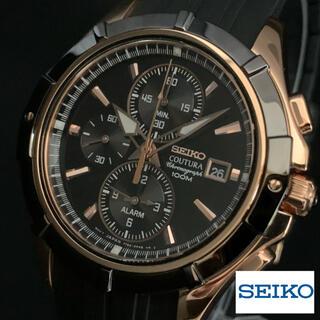 セイコー(SEIKO)の【新品】上級/セイコー/コーチュラ/クロノグラフ/メンズ/ブラック/ゴールド(腕時計(アナログ))