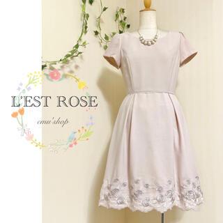 L'EST ROSE - レストローズ ✽ スカラップ刺繍ワンピース ✽
