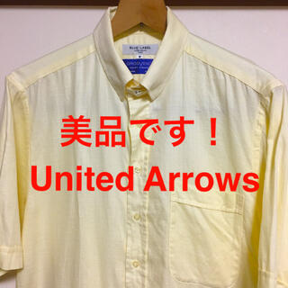 ユナイテッドアローズ(UNITED ARROWS)の美品です!ユナイテッドアローズ イギリス製 高級コットン ドレスシャツ(シャツ)