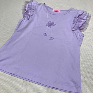 familiar - ファミリア 150 紫 トップス Tシャツ フリル