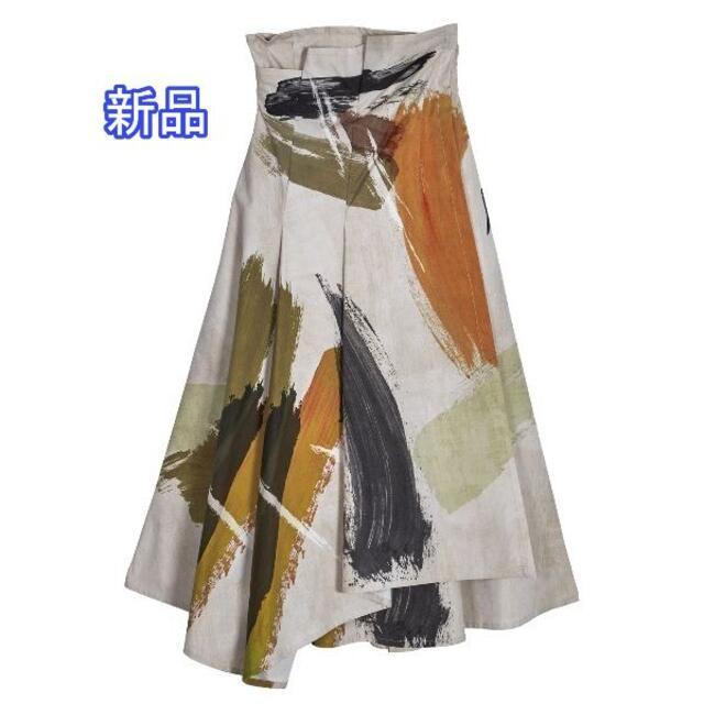 Ameri VINTAGE(アメリヴィンテージ)の新品 AMERI LOUISE ART SKIRT 正規品 レディースのスカート(ロングスカート)の商品写真