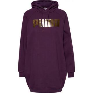プーマ(PUMA)のpuma プーマ holiday パーカー パープル 紫 ドレス (パーカー)