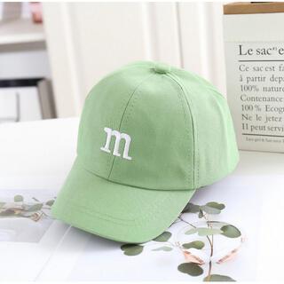 ベビー キッズ キャップ 子供 帽子 m&ms 黄緑 男の子 女の子 韓国子供服