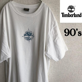 Timberland - 90s Timberland ロゴ プリント 半袖 Tシャツ ホワイト XL