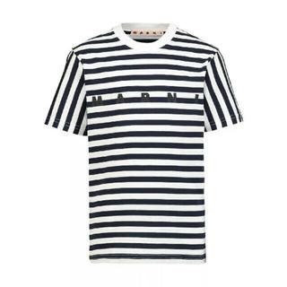 マルニ(Marni)のMarni ボーダー ロゴ  Tシャツ(Tシャツ(半袖/袖なし))