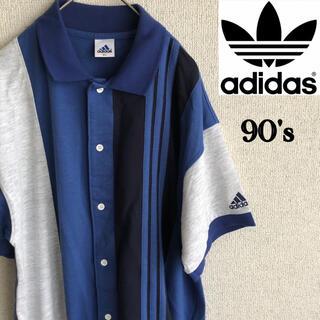 アディダス(adidas)の90s ADIDAS 半袖 シャツ 三本ライン 90's アディダス Mサイズ(シャツ)