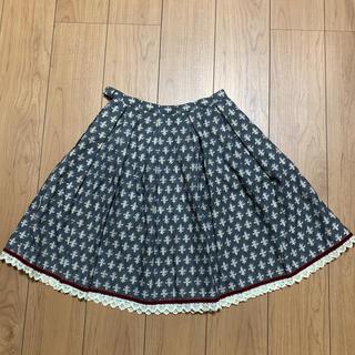 エミリーテンプルキュート(Emily Temple cute)のEmily temple cuteの百合の紋章柄のスカート(ひざ丈スカート)