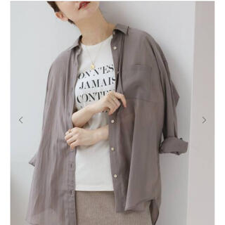 IENA - IENA リライムローンシャツ ベージュ サイズ38