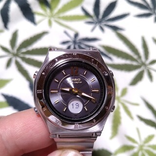 CASIO - 電波ソーラー 腕時計 ウェーブセプター lwa-m141 文字盤ブラック