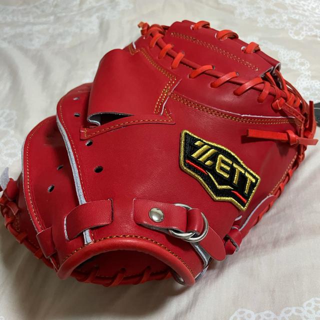 ZETT(ゼット)の新品未使用タグ付きプロステイタス軟式 キャッチャー ミット ゼット(ZETT)  スポーツ/アウトドアの野球(グローブ)の商品写真