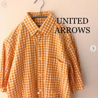 ユナイテッドアローズ(UNITED ARROWS)のユナイテッドアローズ チェックシャツ 半袖 Mサイズ UNITED ARROWS(シャツ)