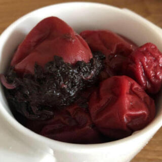 自家製 紫蘇漬け 梅干500g ➕紫蘇葉サービス(漬物)