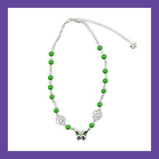ピースマイナスワン(PEACEMINUSONE)のSTUGAZI Green Butterfly Angel Necklace (ネックレス)