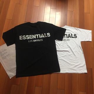 FEAR OF GOD - サイズXL黒白二枚セット反射光りロゴfogessentialsTシャツ