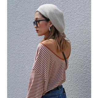 トゥデイフル(TODAYFUL)のflugge thick knit beret 未使用(ハンチング/ベレー帽)