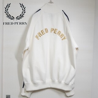 FRED PERRY - 【希少】FRED PERRY 90s  刺繍 トラック ジャージ ジップアップ