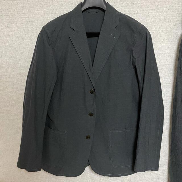 COMOLI(コモリ)の【定価92,880円】コモリ グラフペーパー別注 タイプライターセットアップ メンズのスーツ(セットアップ)の商品写真