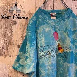 Disney - 【USA製】激レア 古着 ディズニー クマのプーさん ブリーチ加工 刺繍ロゴ