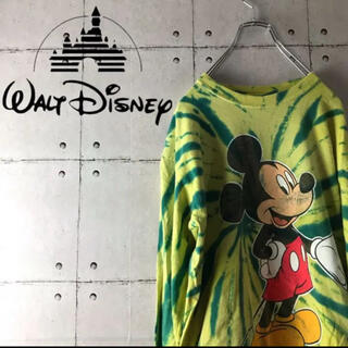 ディズニー(Disney)の【90年代】ディズニー ミッキーマウス ロンT ド派手 ビンテージ タイダイ柄(Tシャツ/カットソー(七分/長袖))