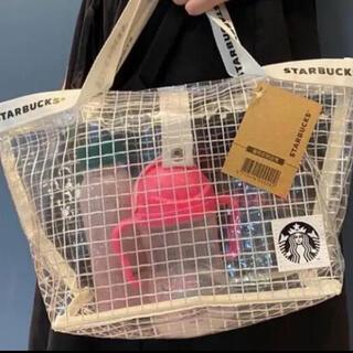 Starbucks Coffee - 希少♡激レア♡日本未入荷♡台湾限定スターバックス ビニール素材トートバッグ