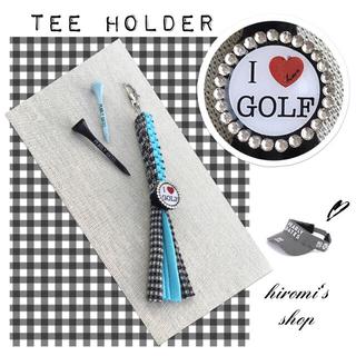 PEARLY GATES - ゴルフ ティーホルダー キャディバッグ カートバッグ スカート パンツ に❣️