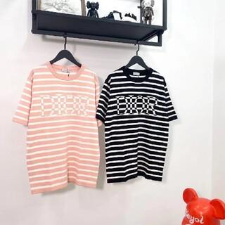 Dior - 【DIOR】新作!ボーダー柄 DIORロゴ オーバーサイズ Tシャツ