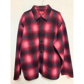 Supreme - Supreme Shadow Plaid Fleece Shirt Red XL