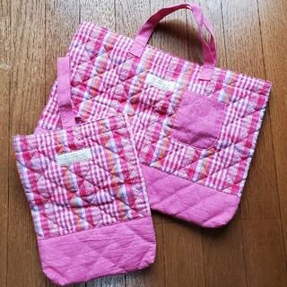 通園・通学バッグ(手提げ袋)+シューズバッグセット (通園バッグ)