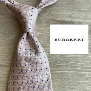 BURBERRY - 【海外モデル】バーバリー イタリア製最高級シルク100%ネクタイ ピンク系 赤系