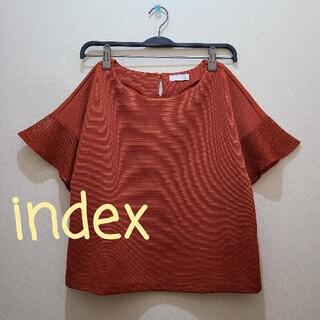 インデックス(INDEX)の美品❤️index❤️袖レース❤️トップス(Tシャツ(半袖/袖なし))