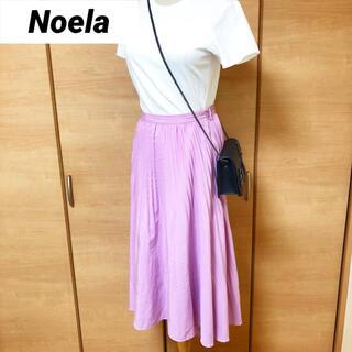 Noela - Noela ノエラ プリーツ調 フレアスカート 薄ピンク色
