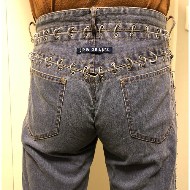 Jean-Paul GAULTIER(ジャンポールゴルチエ)のゴルチェ リング デニム メンズ46 メンズのパンツ(デニム/ジーンズ)の商品写真